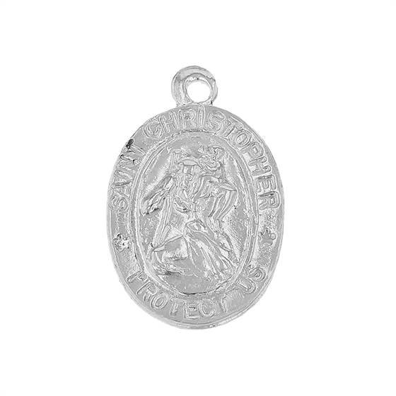 ss 9x12mm st christopher charm