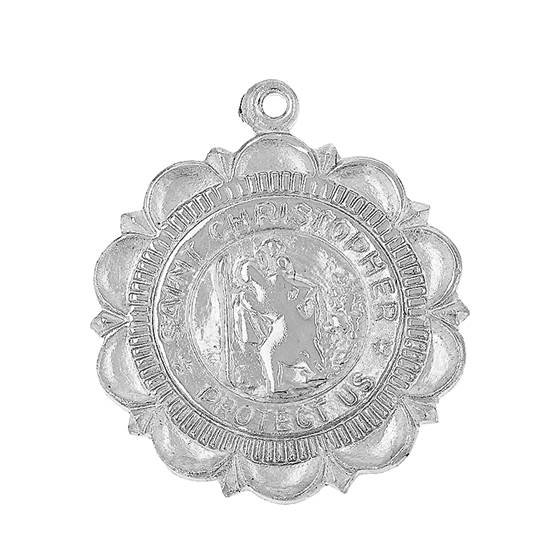 ss 22mm st christopher charm