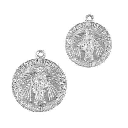 Sterling Silver Mary Charm