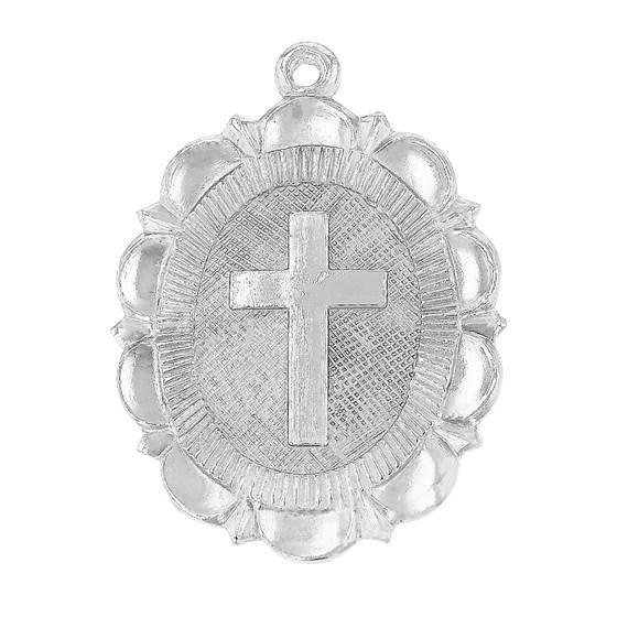 ss 21x16mm cross charm