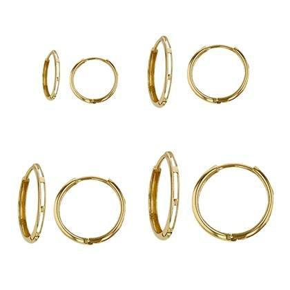 18K Huggie Hoop Earring