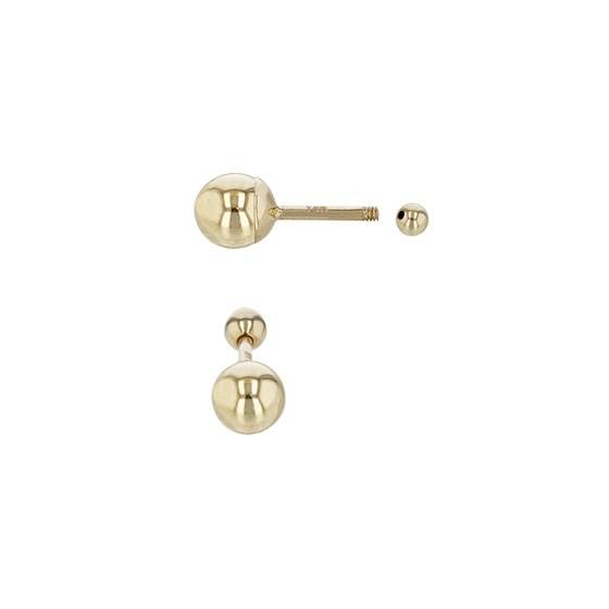 14ky 4x3mm cartilage ball stud earring with screw ball