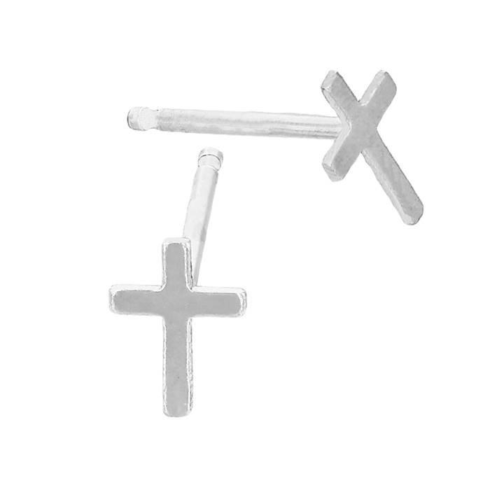 ss cross stud earring