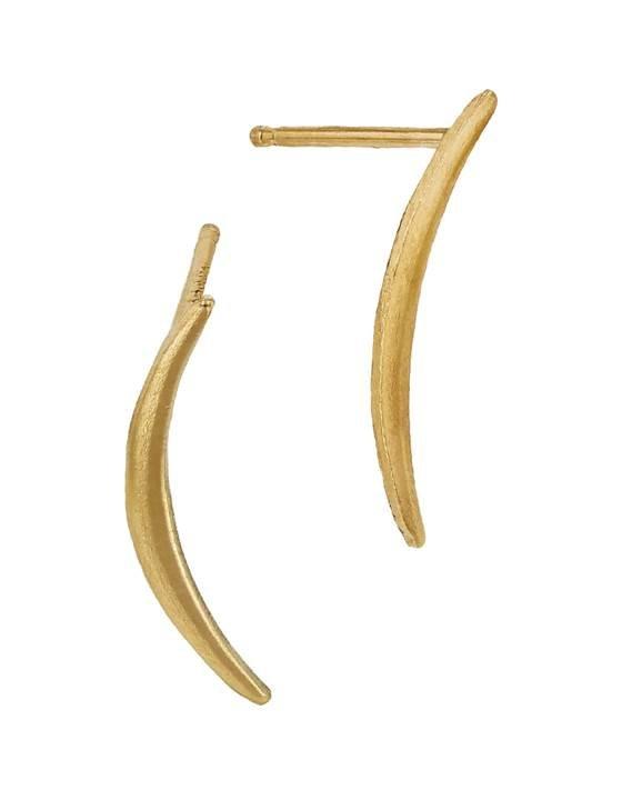 gf 16mm left side crescent stud earring