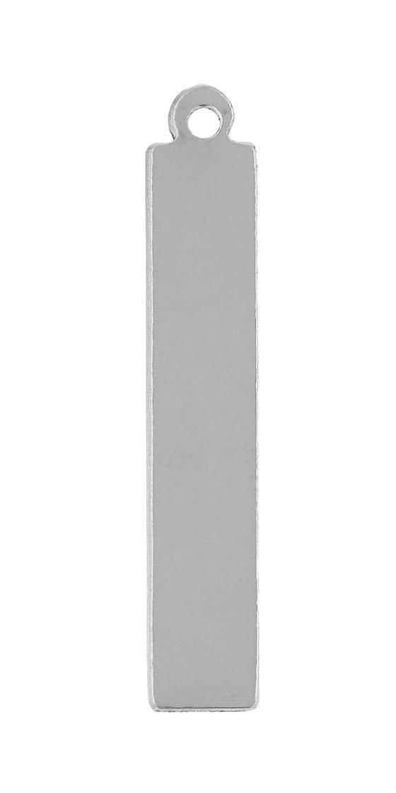 ss 35x6.5mm rectangle charm