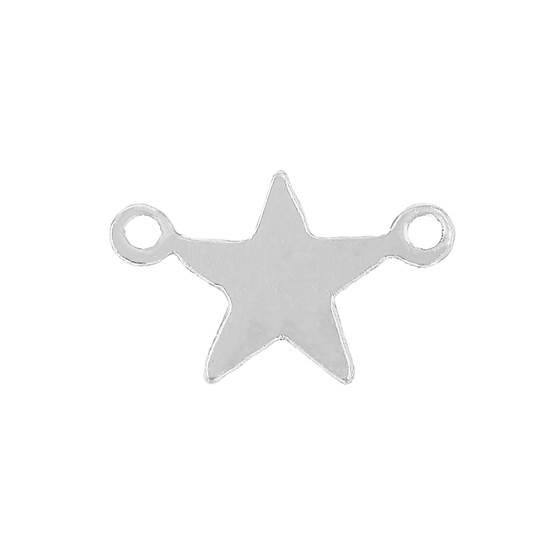 ss 7.5mm star charm with 2 rings