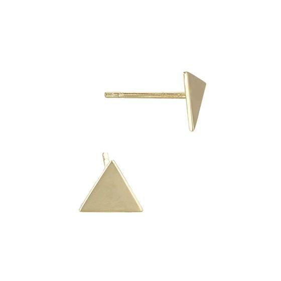 14ky 5.5mm triangle stud earring