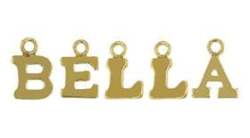 Gold FIlled Block Style Letter Charm