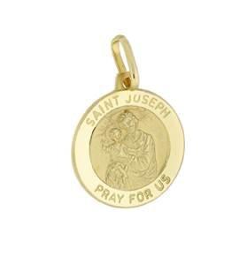 14ky 15.1mm medium saint joseph pendant