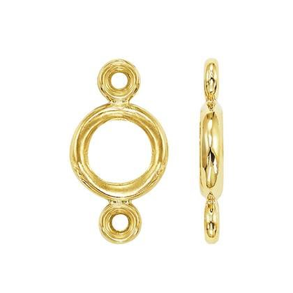 14K Round Edge Bezel With Jumprings