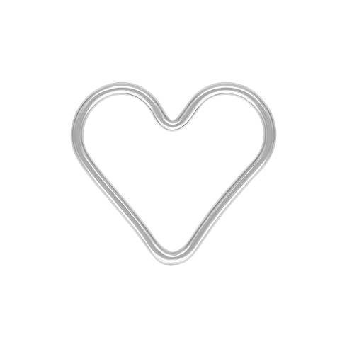 ss 15mm 1.0mm thick heart charm