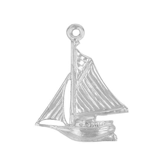 ss 19x14mm sail boat charm