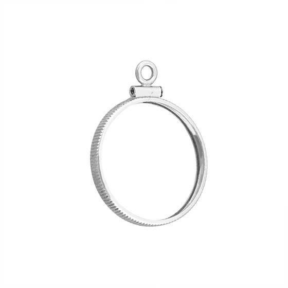 sterling silver 21.10x1.95mm nickel coin frame silver