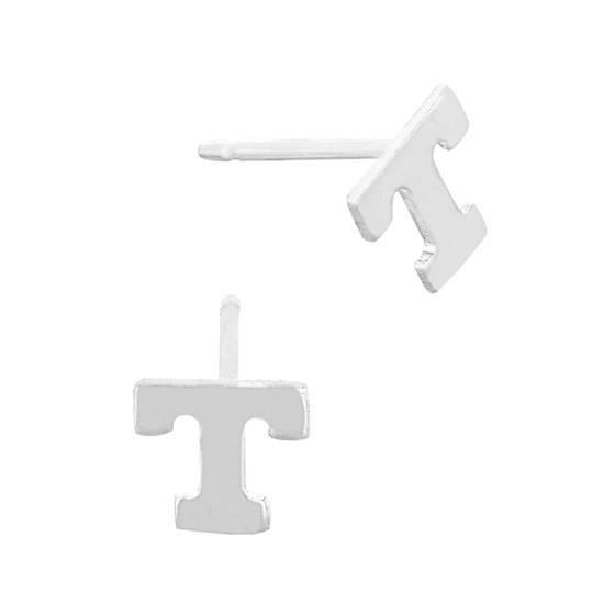 ss 5.6mm block style letter t stud earring