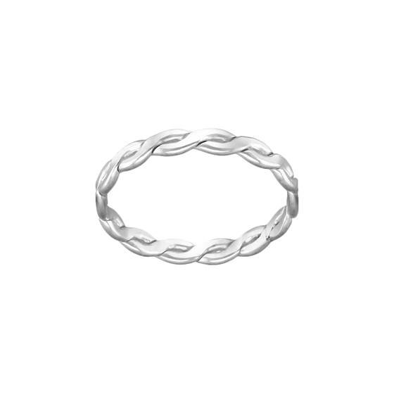 ss size8 2.4mm thick woven ring