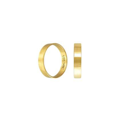 gf size8 3.5mm thick flat ring