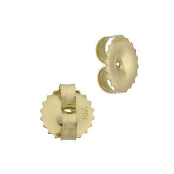 14ky 6.5x0.84mm hole ridged edge friction earring earnut