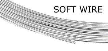 STERLING SILVER 26 GAUGE SOFT WIRE 0.4MM (0.016 INCHES)