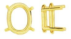 14K OVAL DOUBLE WIRE SETTING 5761-14K