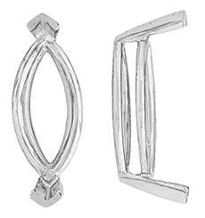 14K MARQUISE V-PRONG DOUBLE WIRE SETTING 6729-14K