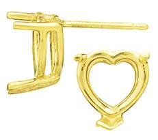 V-END HEART EARRING