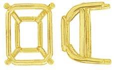 14K EMERALD DOUBLE WIRE TAPER BASE SETTING 7628