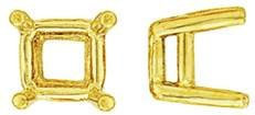 14K PRINCESS DOUBLE WIRE SETTING 8050-14K