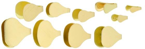 10k Gold Solder Flush Endcaps