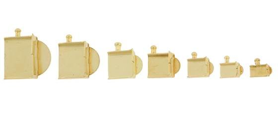 10k Gold Box Clasp Shells
