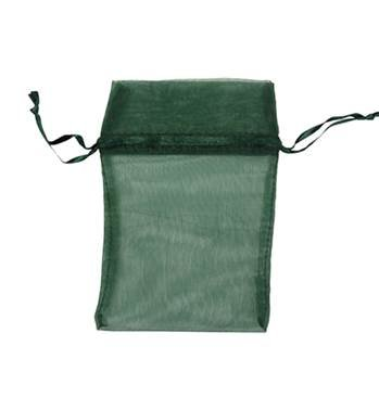 DARK GREEN ORGANZA DRAWSTRING BAG 27216-BX
