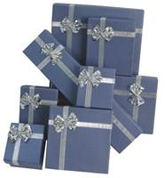 Linen Bow Tie Gift Boxes