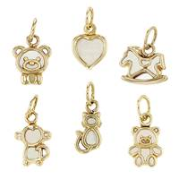 14K Mother Of Pearl Charms