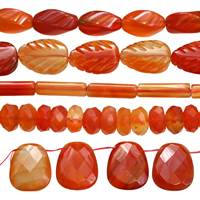 Agate Bead (Natural Color Red)