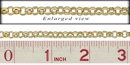 Gold Filled 5.1mm Chain Width Belcher Rolo Chain
