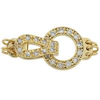 Vermeil 17X11mm Cubic Zirconia Circle Fold Over Clasp
