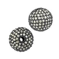 14KW 1.20CTS 10MM CHAMPAGNE DIAMOND BALL BEAD