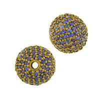 14KY 2.08CTS 12MM BLUE SAPPHIRE BALL BEAD