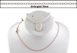 14KR 18 INCHES READY TO WEAR FLAT CABLE CHAIN WITH SPRINGRING CLASP