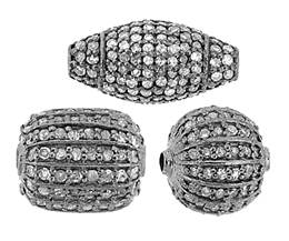 Sterling Silver Diamond Beads