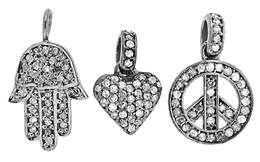 Sterling Silver Diamond Charms