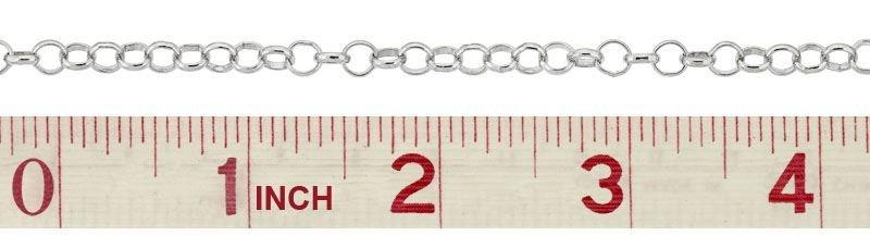 SS Belcher Rolo Chain