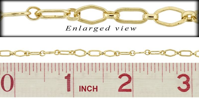 GOLD FILLED FLAT FIGARO CHAIN