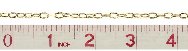 GOLD FILLED HAMMER OVAL CABLE CHAIN