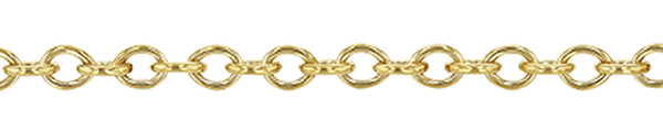 Gold Filled 1.10mm  Round Cable Chain