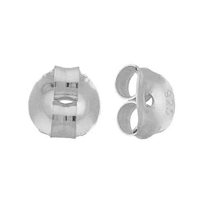 STERLING SILVER 6MM EARRING FRICTION EARNUT