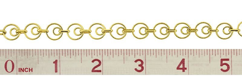 VERMEIL INNER CIRCLE AND SHORT CABLE CHAIN