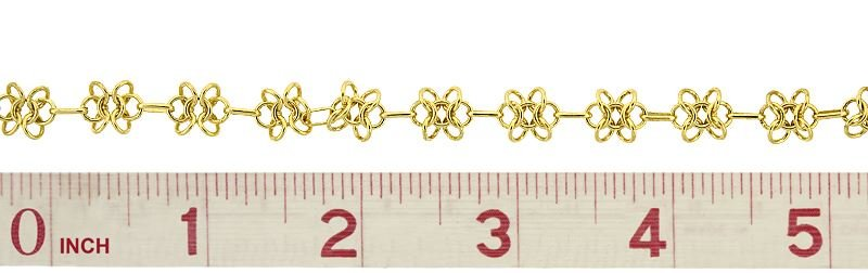 VERMEIL FLOWER CABLE CHAIN