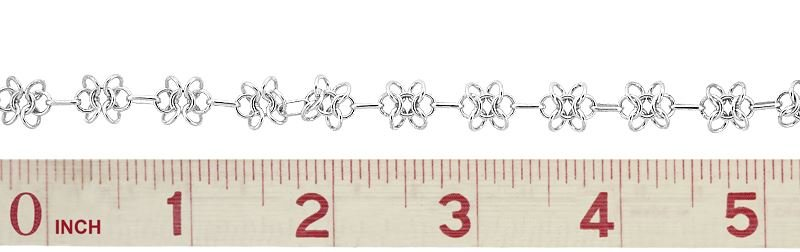 STERLING SILVER FLOWER CABLE CHAIN