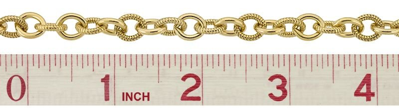 GOLD FILLED 8.0MM CHAIN WIDTH TWISTED AND PLAIN OVAL CABLE CHAIN