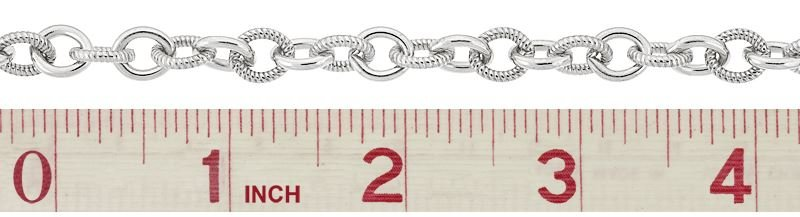 STERLING SILVER 8.0MM CHAIN WIDTH TWISTED AND PLAIN OVAL CABLE CHAIN